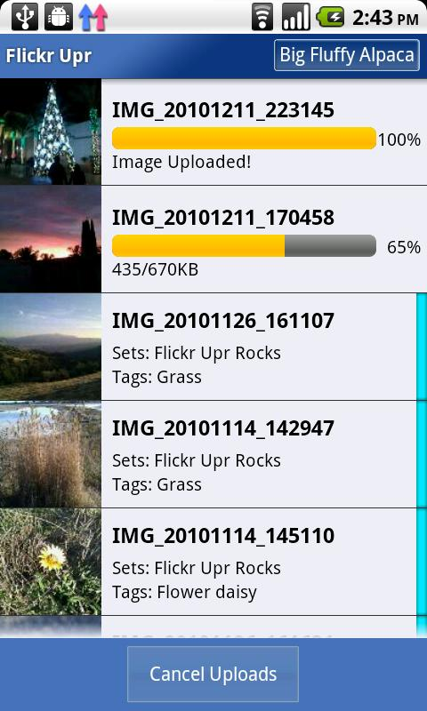 Flickr Upr - screenshot