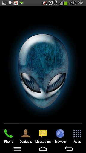 3D Glowing Alien Face LWP