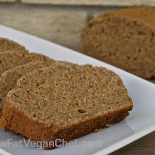 Fat Free Whole Wheat Vegan Banana Bread.