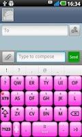 Screenshot of Pink Glow Better Keyboard Skin