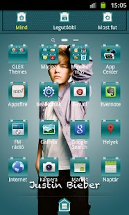 Justin Bieber GO Theme - screenshot thumbnail