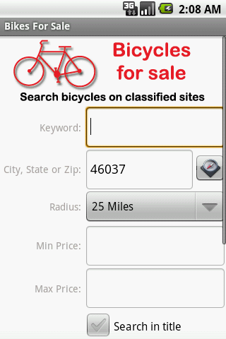 Bikes For Sale - screenshot