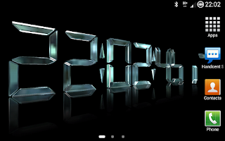 Screenshot of DigiClock 3D LWP