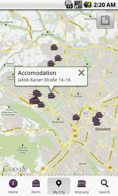 iDormDict- screenshot