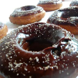 Vanilla Bean Salted Dark Chocolate Doughnuts