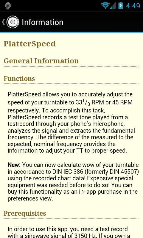 PlatterSpeed - Vinyl Tool- screenshot