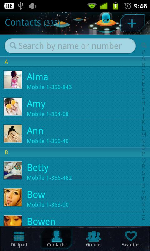 GO Contacts - screenshot