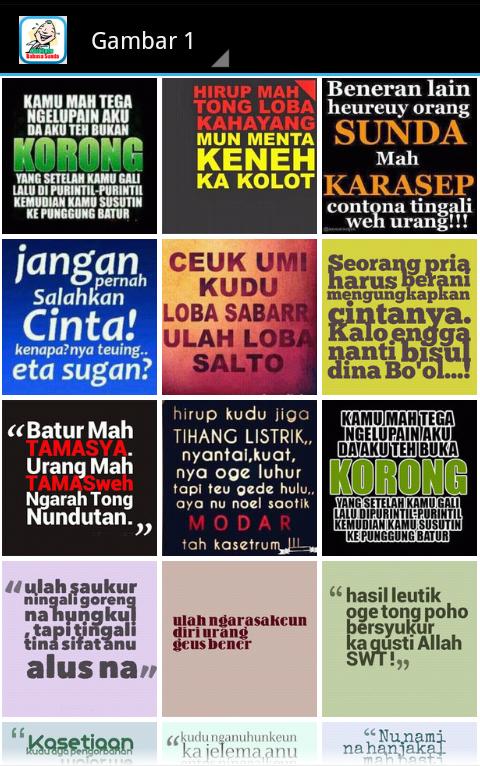 Download Foto Kata Kata Lucu Bahasa Sunda