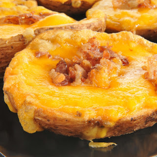 Cheddar Cheese Potato Skins.