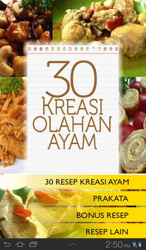 30 Kreasi Olahan Ayam