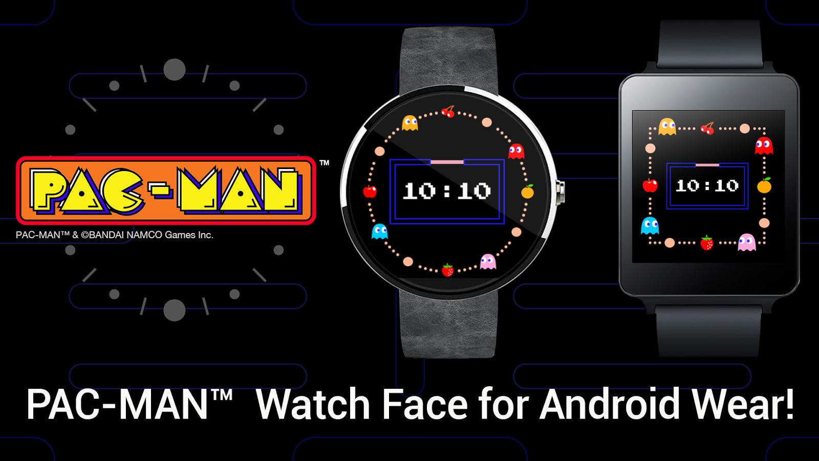 Facer android wear - Pac Man Watch Face Screenshot