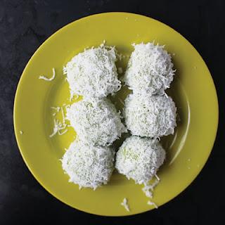 Onde-Onde (Pandan, Palm Sugar, and Coconut Dumplings).