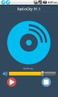 Screenshot of Radio City 91.1 Bangalore FM