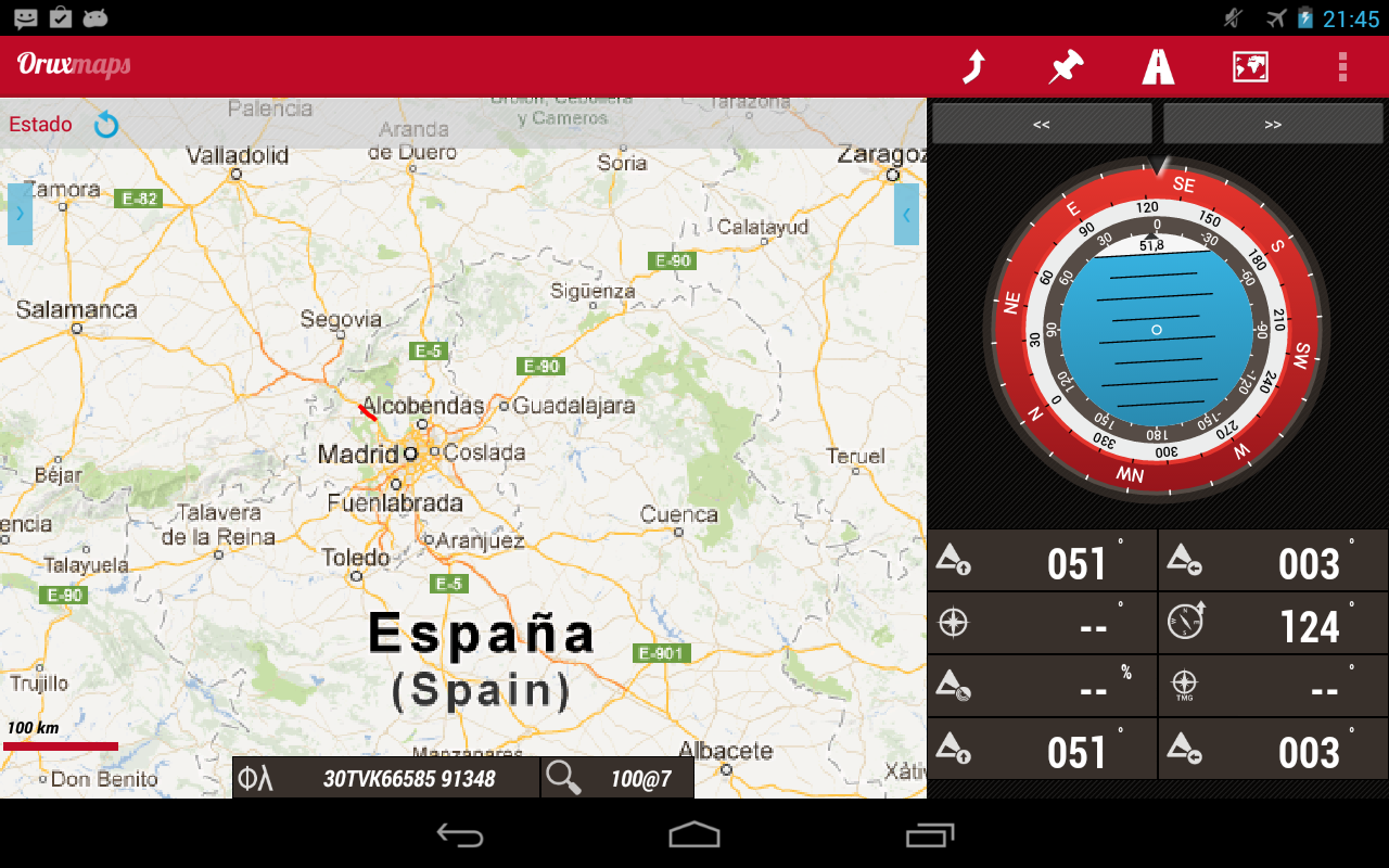 OruxMaps – Screenshot