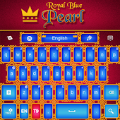 Royal Blue Pearl Keyboard