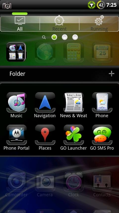 SENSE GO Launcher EX Theme- screenshot