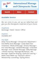 Screenshot of Dr. Dot Massage Team