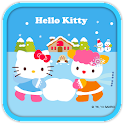 Hello Kitty PlayingSnow Theme