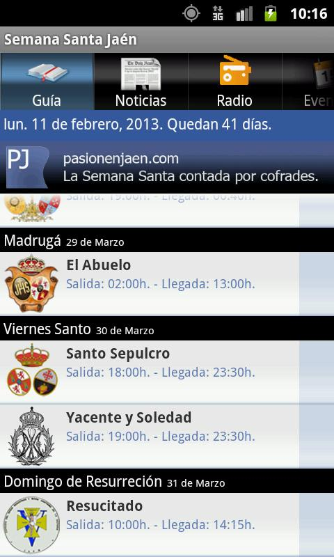Semana Santa Jaén - screenshot