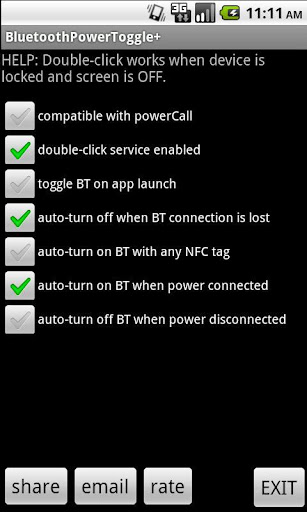 Bluetooth Power Toggle+
