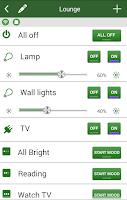 Screenshot of LightwaveRF