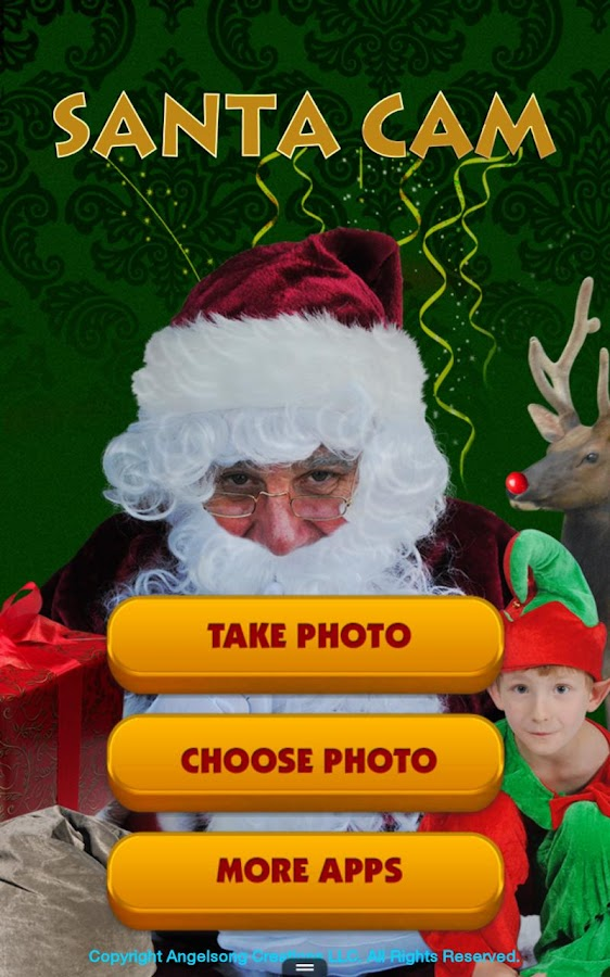 Santa Cam Phone-Christmas App - screenshot