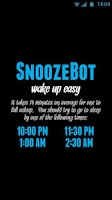 Screenshot of SnoozeBot Beta