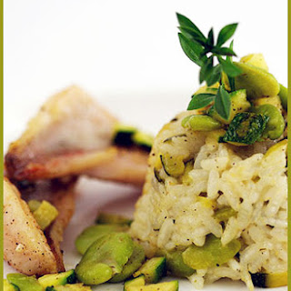 Fava Bean Risotto Timbale.