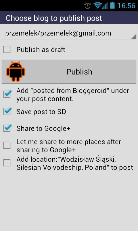 Bloggeroid for Blogger- screenshot