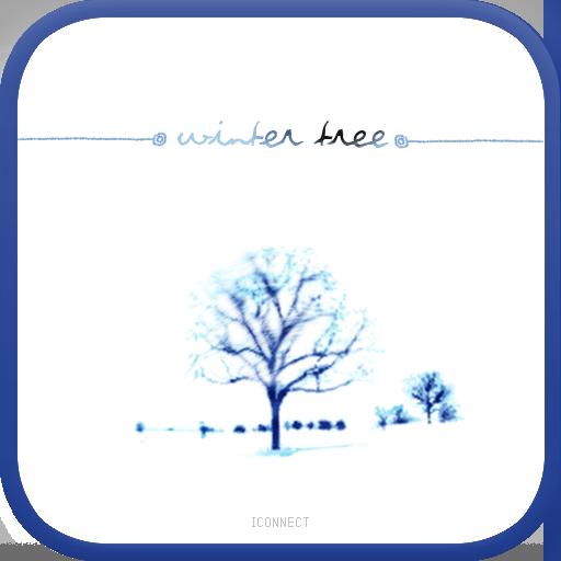 Winter tree go locker theme