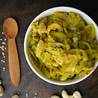 Curried Ginger Cabbage with Cashews & Quinoa Recipe