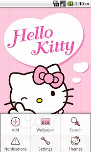 Hello Kitty Pink Heart Theme - screenshot thumbnail