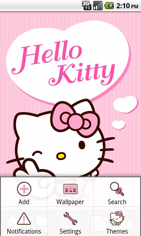 Hello Kitty Pink Heart Theme - screenshot