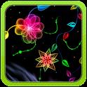 3D Neon Flower icon