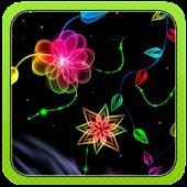 3D Neon Flower
