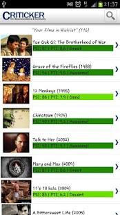 Criticker - screenshot thumbnail
