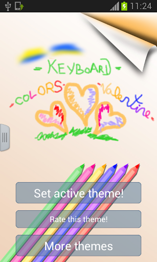 鍵盤顏色蠟筆