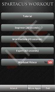 Spartacus Workout Lite - screenshot thumbnail