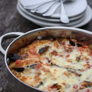 Eggplant-Zucchini Lasagna with Fontina.