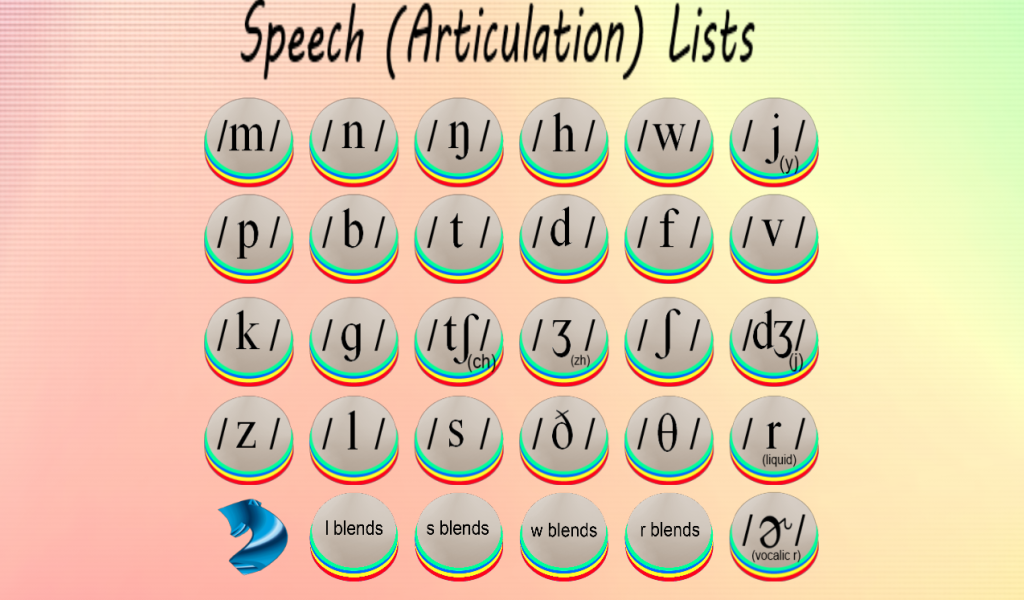 Speech & Language Lists Galore- screenshot
