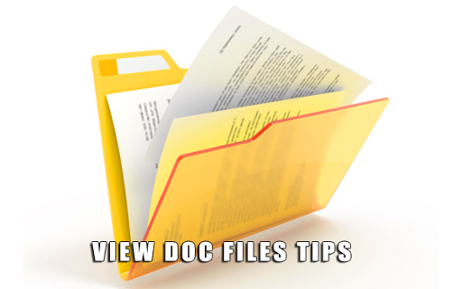 查看Doc文件的提示