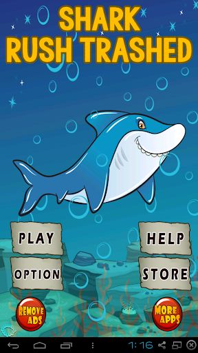 Shark Rush Trashed
