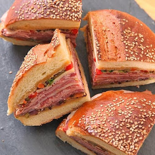 Classic New Orleans Muffuletta Sandwich