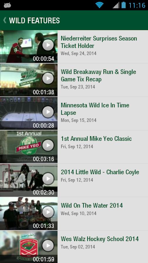 MN Wild Official - screenshot