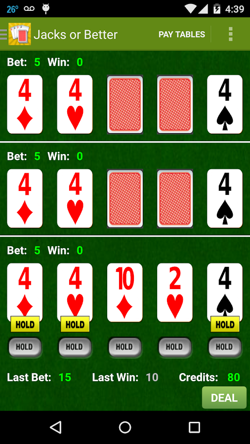 Awesome Triple Video Poker- screenshot