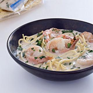 Shrimp and Spaghetti in Coconut Broth.