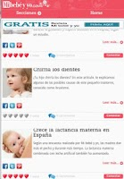 Screenshot of Revistas de embarazo