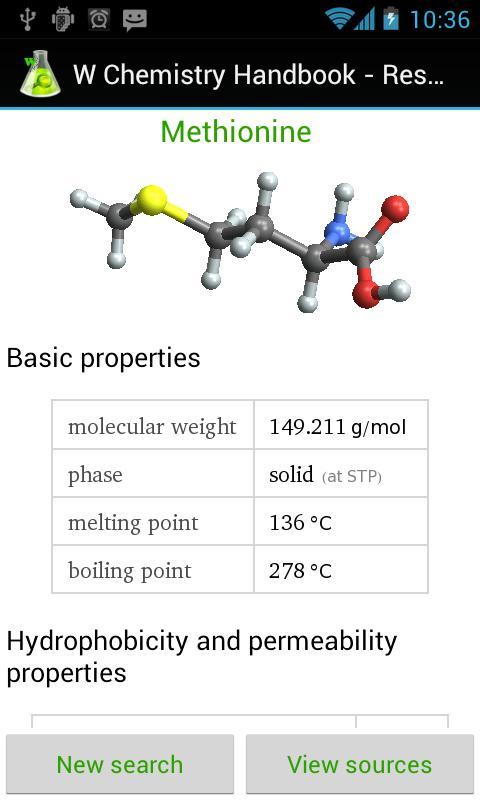 W Chemistry Handbook- screenshot