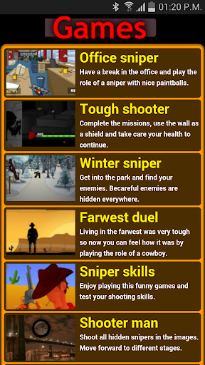 Snipping games
