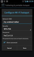 Screenshot of WiFi USB BT Tether Hotspot